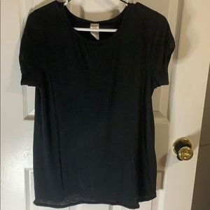 Basic essential free people black tee t shirt